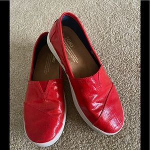 Red Leather Toms